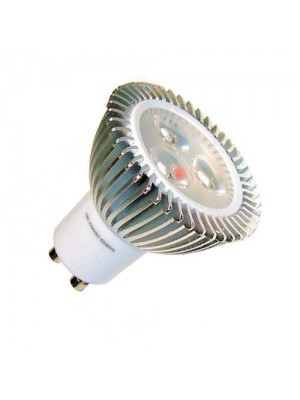 LED-GU10, 230V, 4.1Watt, 3xLED, 240Lumen=25Watt, warmweiss