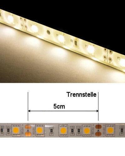 LED-Streifen Warmweiss, 500cm, 12VDC, 72 Watt, 4400Lumen